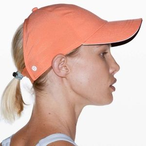 Nwt Lululemon ponytail ballet hat in Coral